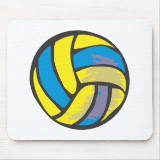 Volleyball in Hand-drawn Style Mouse Pad