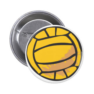 Volleyball in Hand-drawn Style Pinback Button