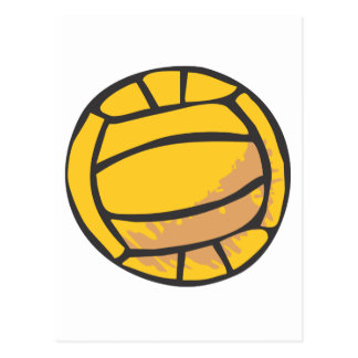 Volleyball in Hand-drawn Style Postcard