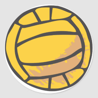 Volleyball in Hand-drawn Style Round Stickers