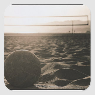 Volleyball in the Sand Square Sticker