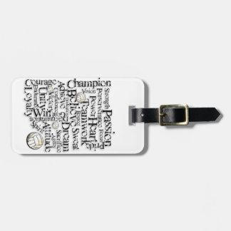 Volleyball Inspiration Luggage Tag