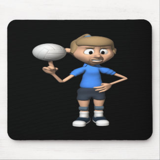 Volleyball Intimidation Mouse Pad