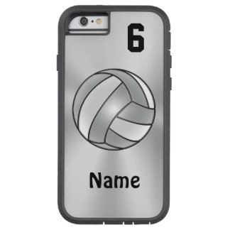Volleyball iPhone 6 Cases Your NAME and NUMBER Tough Xtreme iPhone 6 Case