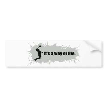Beach Themed Volleyball is a Way of Life (Male) Bumper Sticker