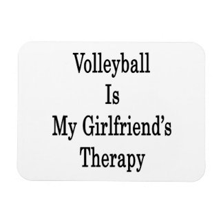 Volleyball Is My Girlfriend's Therapy Rectangular Photo Magnet