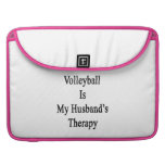 Volleyball Is My Husband's Therapy MacBook Pro Sleeves