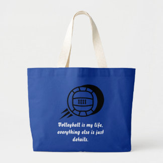 Volleyball is my Life Large Tote Bag