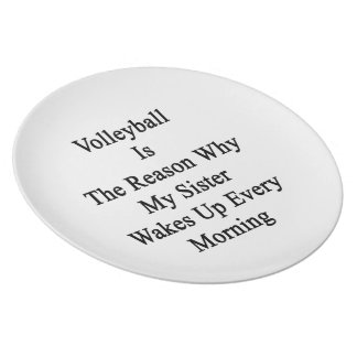 Volleyball Is The Reason Why My Sister Wakes Up Ev Party Plate