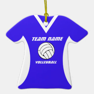 Volleyball Jersey with Photo Christmas Tree Ornament