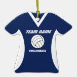 Volleyball Jersey with Photo Christmas Tree Ornaments