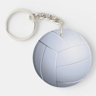 Volleyball Double-Sided Round Acrylic Keychain