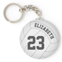 volleyball keychain bag tag w name jersey number