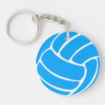 Volleyball Keychain w/Name Blue