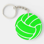 Volleyball Keychain w/Name Green