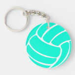 Volleyball Keychain w/Name Turquoise