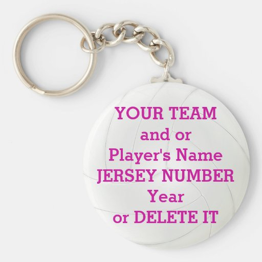 Volleyball Keychains TEAM, NAME, YEAR, NUMBER