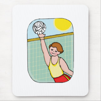 Volleyball kid mouse pad