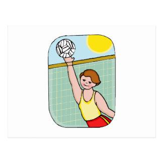 Volleyball kid postcard