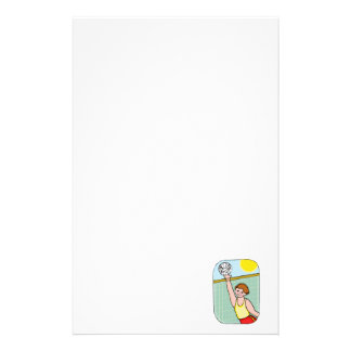 Volleyball kid personalized stationery