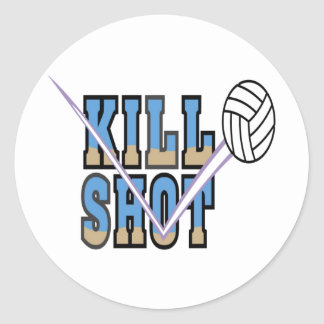 Volleyball: Kill Shot Round Stickers