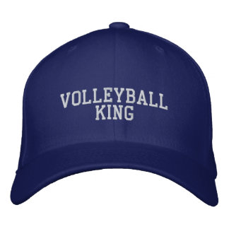 Volleyball king embroidered baseball hat