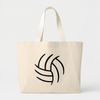 Volleyball Large Tote Bag