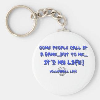 Volleyball Life Basic Round Button Keychain