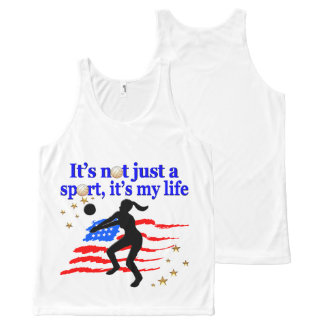 VOLLEYBALL LIFE USA FLAG DESIGN All-Over-Print TANK TOP