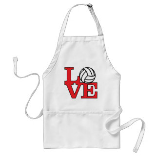 Volleyball Love Adult Apron