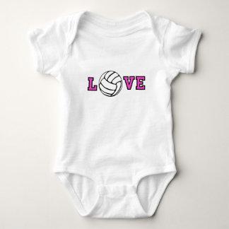 Volleyball Love Baby Bodysuit