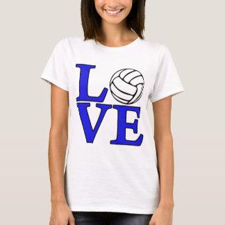 Volleyball LOVE, blue T-Shirt