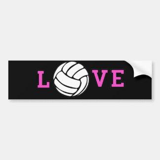 Volleyball Love Bumper Sticker