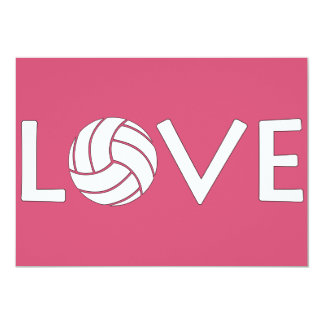 Volleyball Love Card