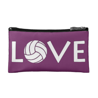 Volleyball Love Customizable Cosmetics Handbag Makeup Bag