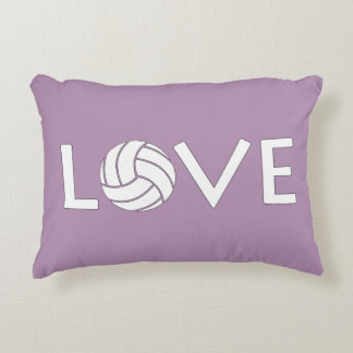 Volleyball Love Decorative Pillow