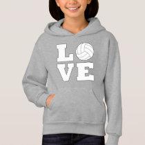 Volleyball Love Girl's Sweathshirt Hoodie