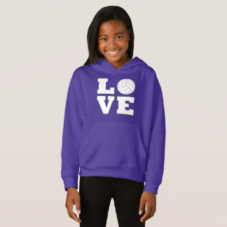 Volleyball Love Girl's Sweathshirt Hoodie