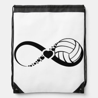 Volleyball Love Infinity Drawstring Backpack