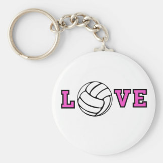 Volleyball Love Keychain