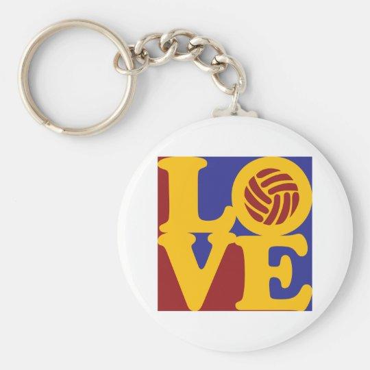 Volleyball Love Keychain