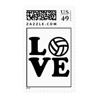 Volleyball love postage