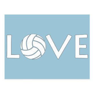 Volleyball Love Postcard