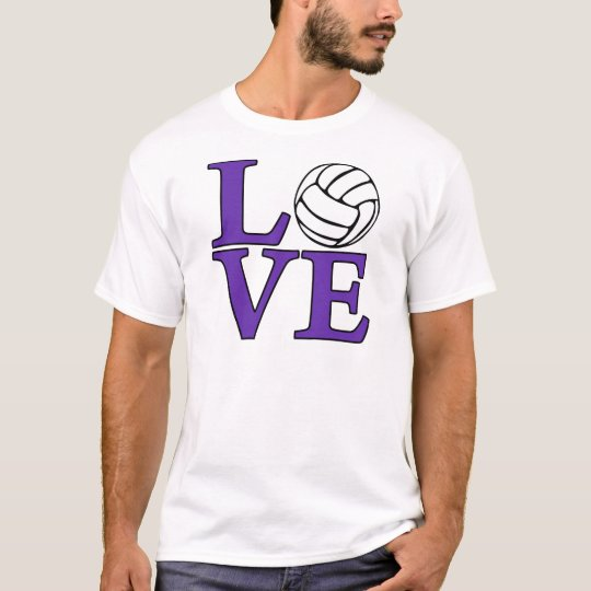 Volleyball LOVE, purple T-Shirt