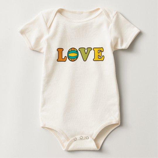 Volleyball Love Sport Baby Bodysuit