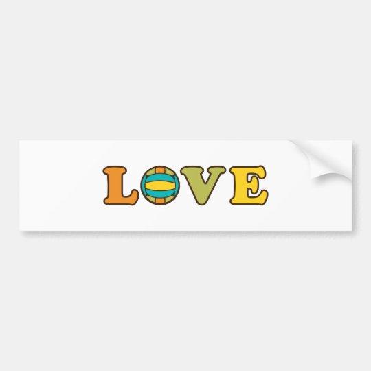 Volleyball Love Sport Bumper Sticker
