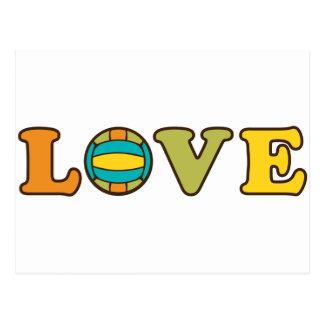 Volleyball Love Sport Postcard