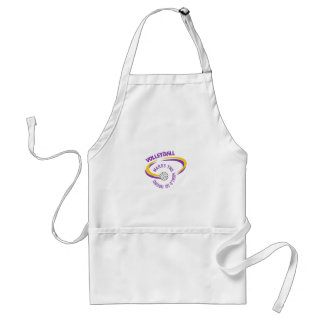 Volleyball Makes The World Go Round Adult Apron