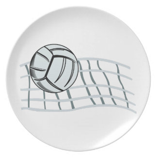 Volleyball Melamine Plate