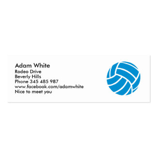 Volleyball Mini Business Card